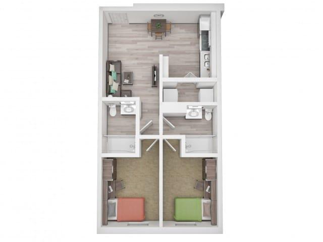 texas a&m apartment floor plan